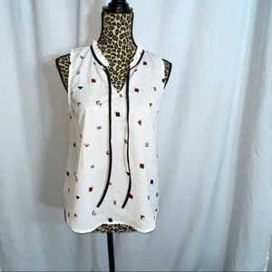 Triangles white blouse